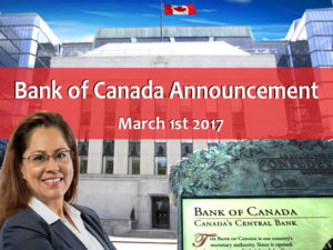 BANK OF CANADA MAINTAINED THEIR RATE