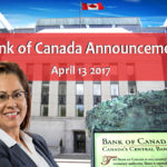 Bank Of Canada Announcement – April 13, 2017